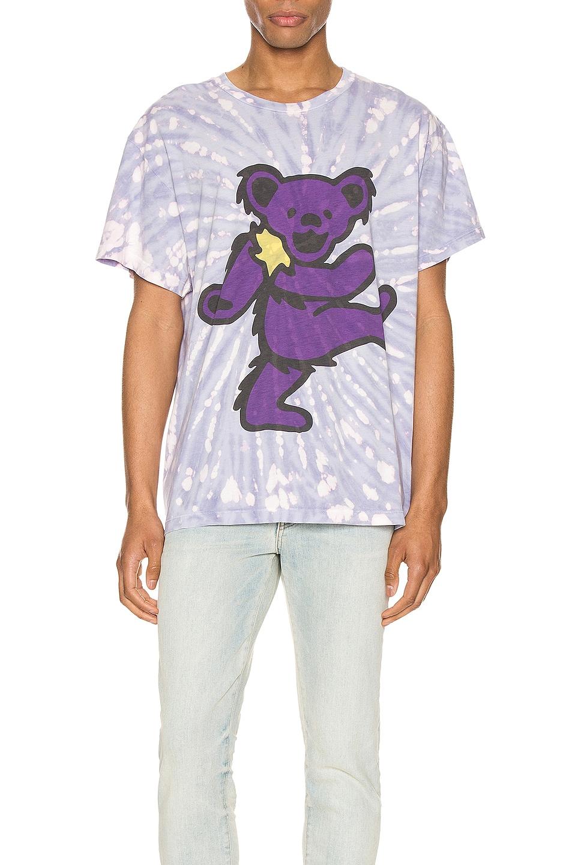 Image 1 of Amiri Grateful Dead Bear Tie Dye Tee in Lavender