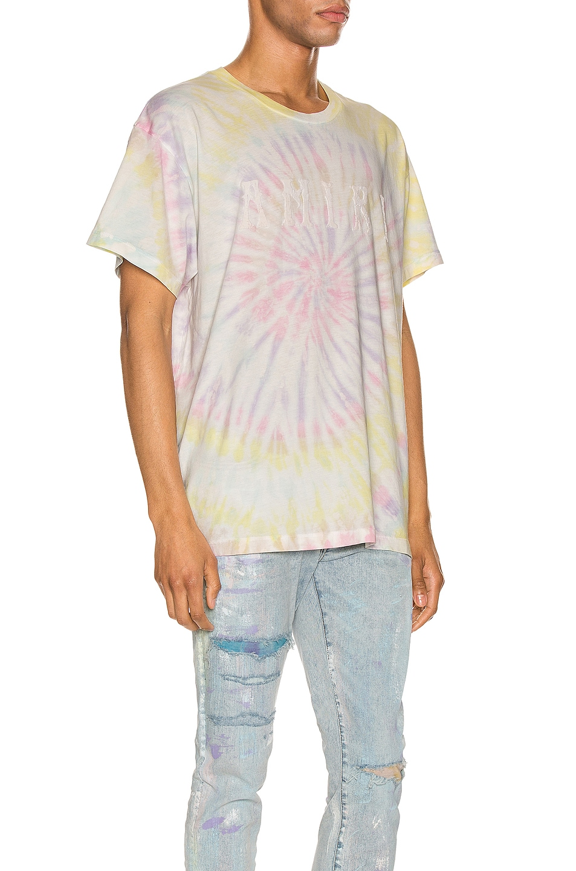 Image 2 of Amiri Tie Dye AMIRI Hippie Tee in Pastel Tie Dye