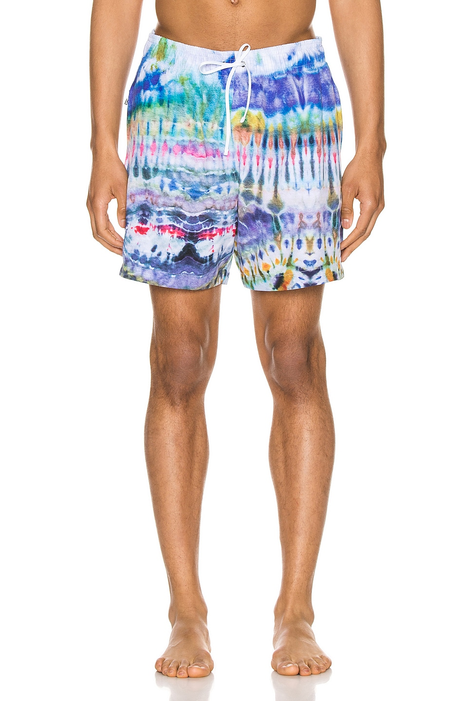 Image 1 of Amiri Tie Dye Swim Trunk in Blue