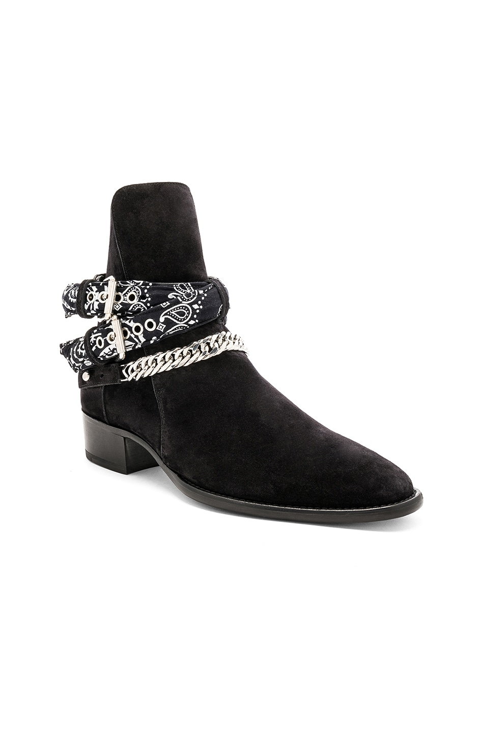 Image 1 of Amiri Bandana Buckle Boot in Black