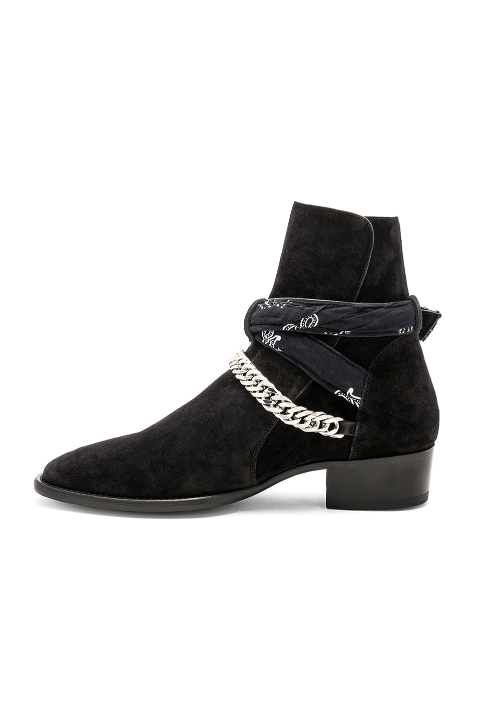 Image 5 of Amiri Bandana Buckle Boot in Black