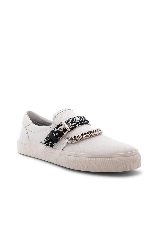 Image 1 of Amiri Slip On Bandana Leather Sneaker in White