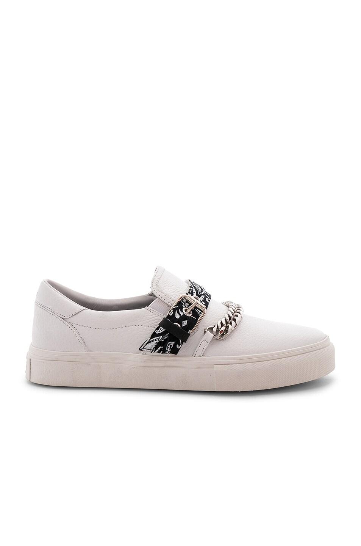 Image 2 of Amiri Slip On Bandana Leather Sneaker in White