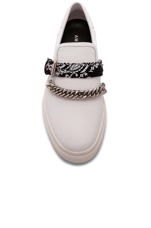 Image 4 of Amiri Slip On Bandana Leather Sneaker in White