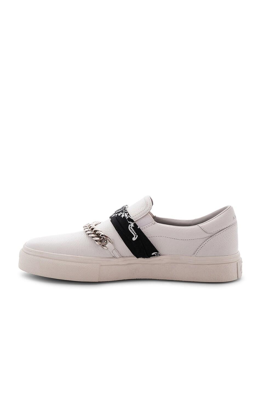 Image 5 of Amiri Slip On Bandana Leather Sneaker in White