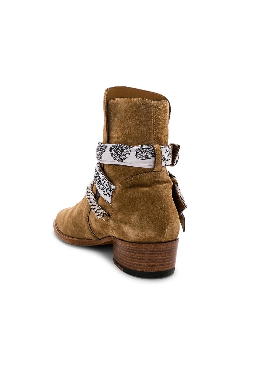 Image 3 of Amiri White Bandana Buckle Boot in Tan