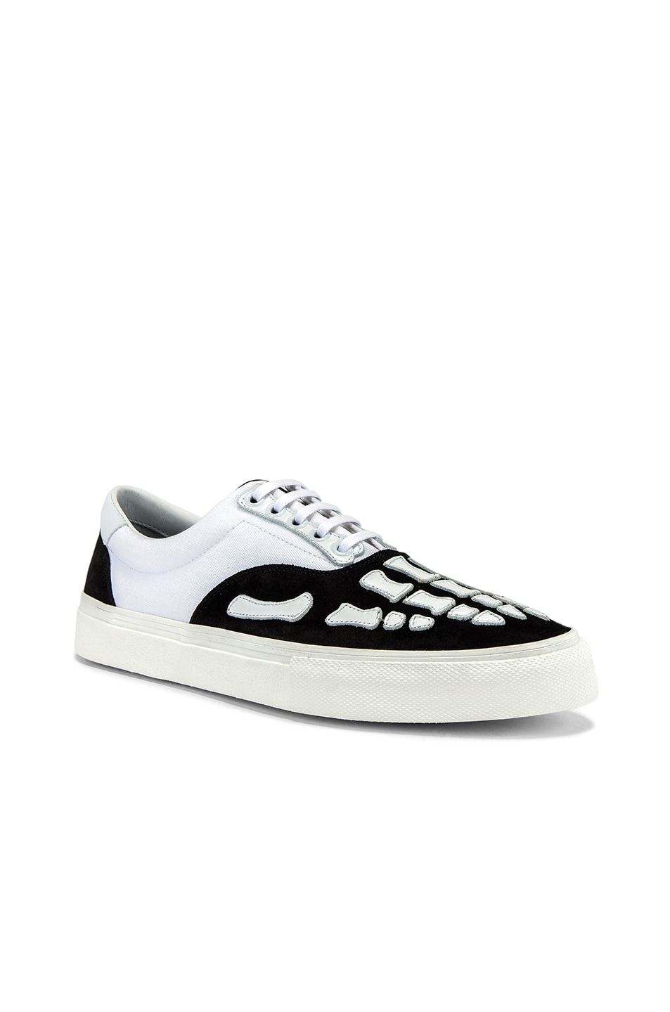 Image 1 of Amiri Skel Toe Lace Up Sneaker in Black & White