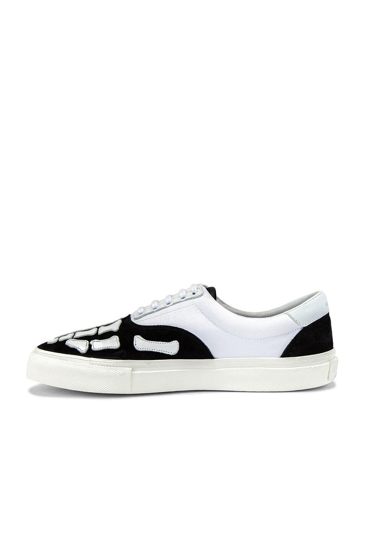 Image 5 of Amiri Skel Toe Lace Up Sneaker in Black & White