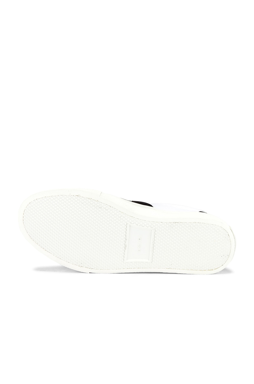 Image 6 of Amiri Skel Toe Lace Up Sneaker in Black & White