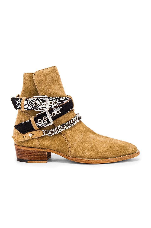 Image 2 of Amiri Bandana Buckle Boot in Fango