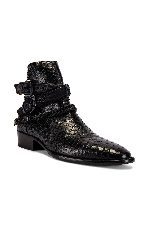 Image 1 of Amiri Buckle Chain Boot in Black