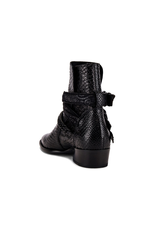 Image 3 of Amiri Buckle Chain Boot in Black