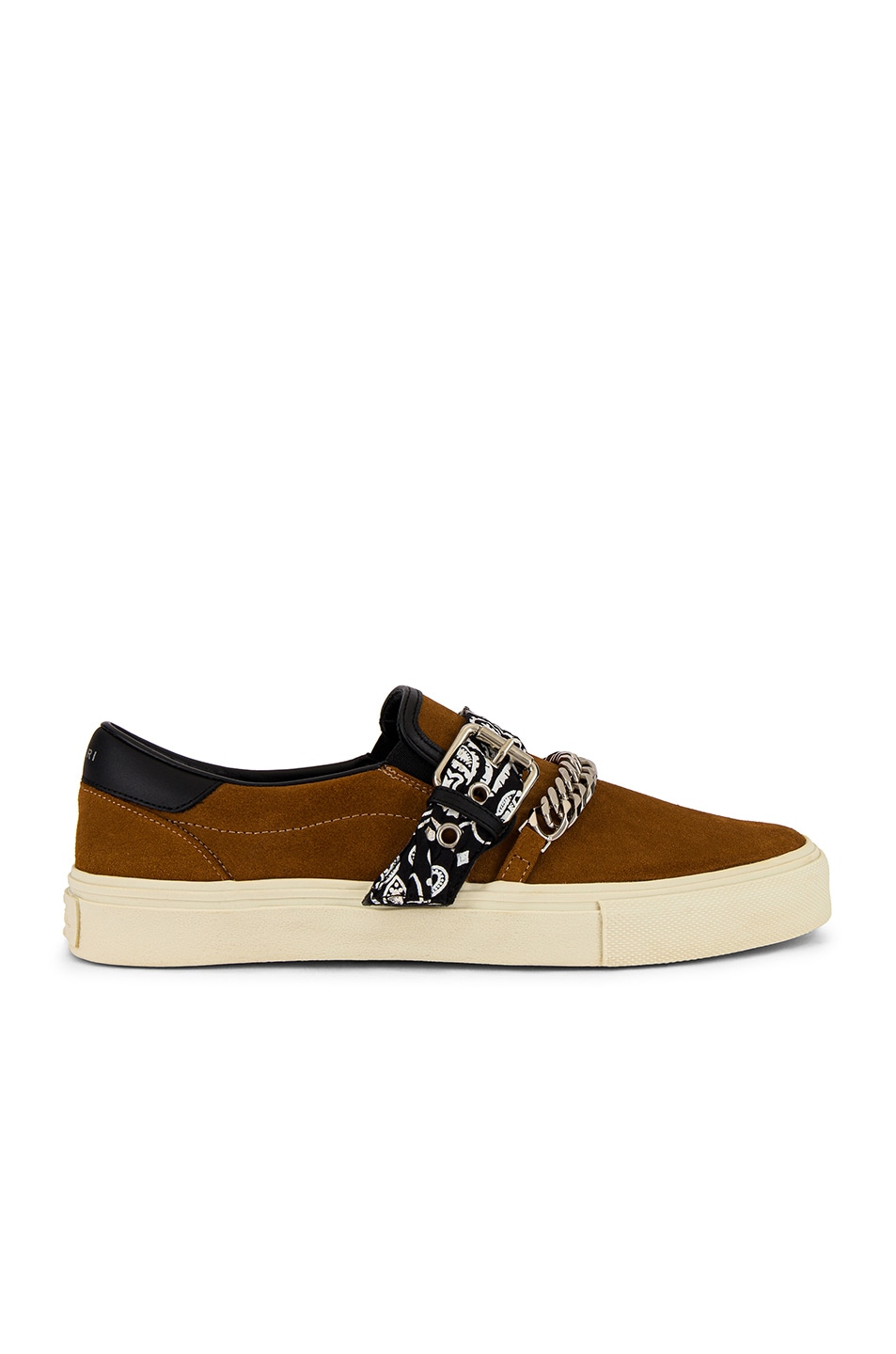 Image 2 of Amiri Bandana Buckle Slip On in Brown