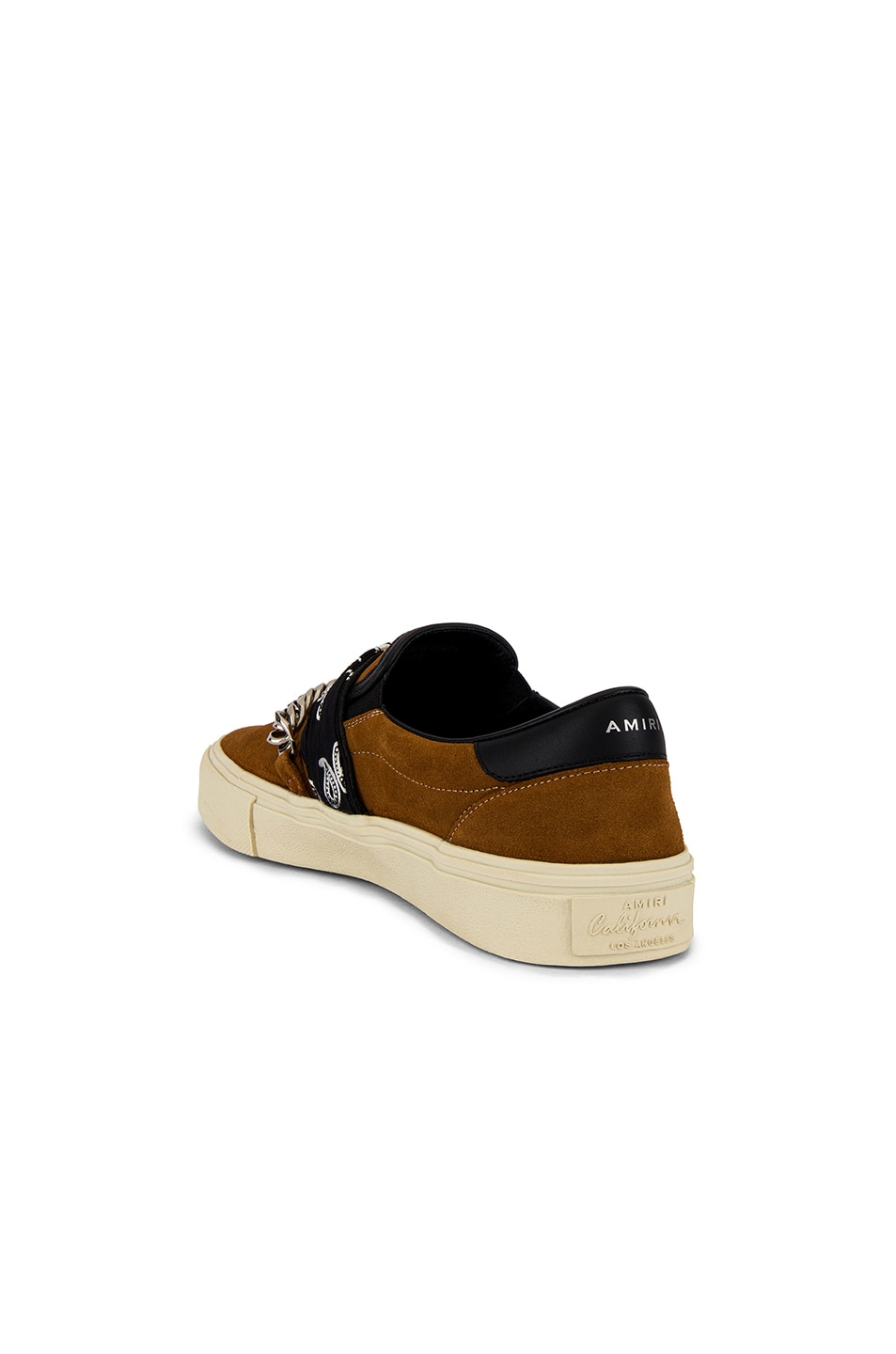 Image 3 of Amiri Bandana Buckle Slip On in Brown