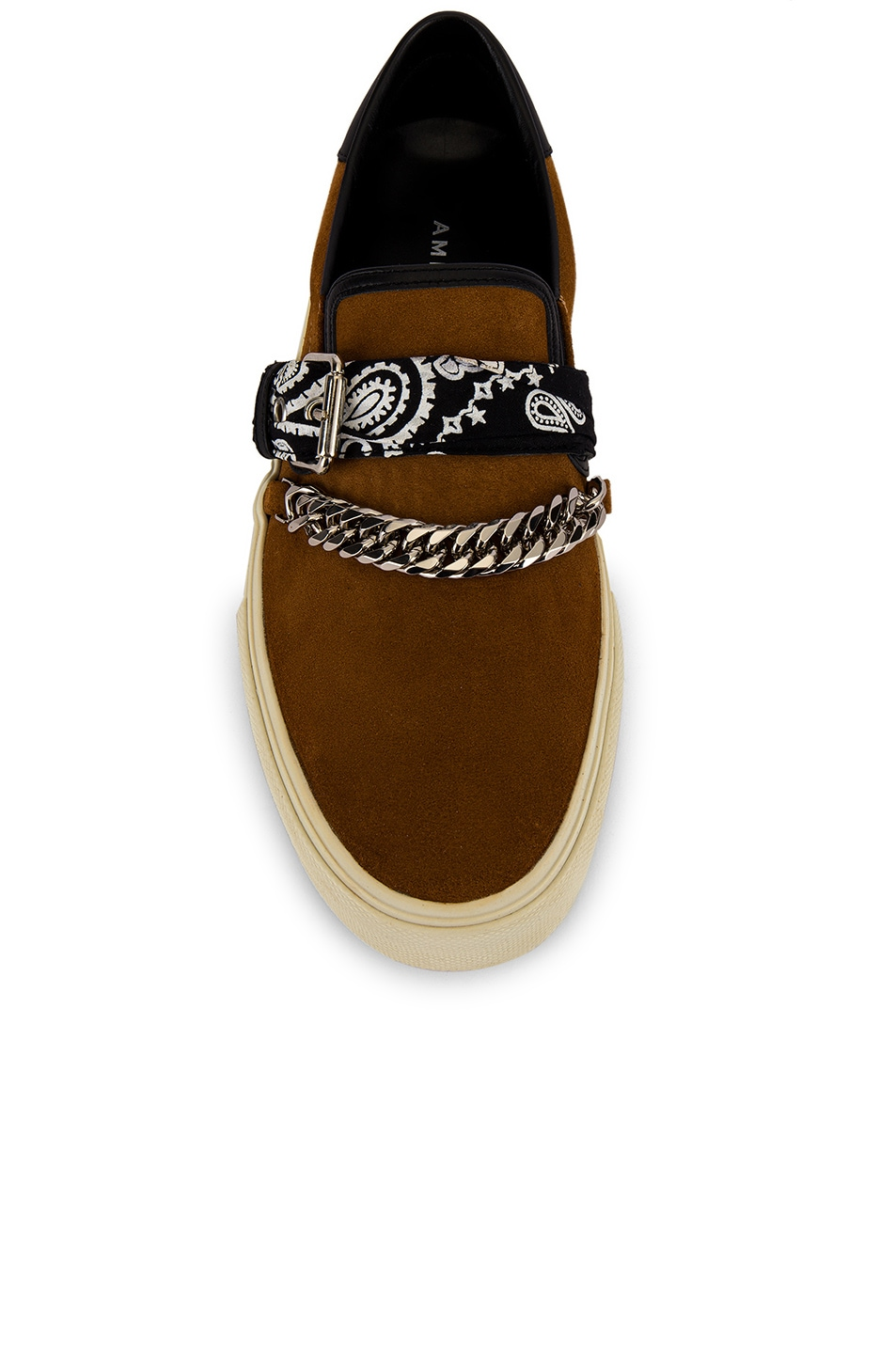Image 4 of Amiri Bandana Buckle Slip On in Brown