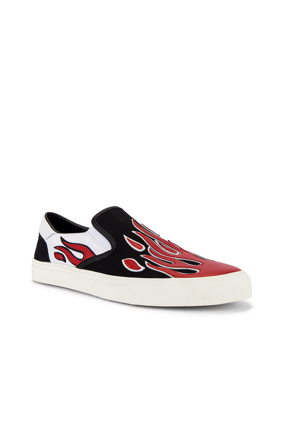 Image 1 of Amiri Flame Slip On in Black & White & Red