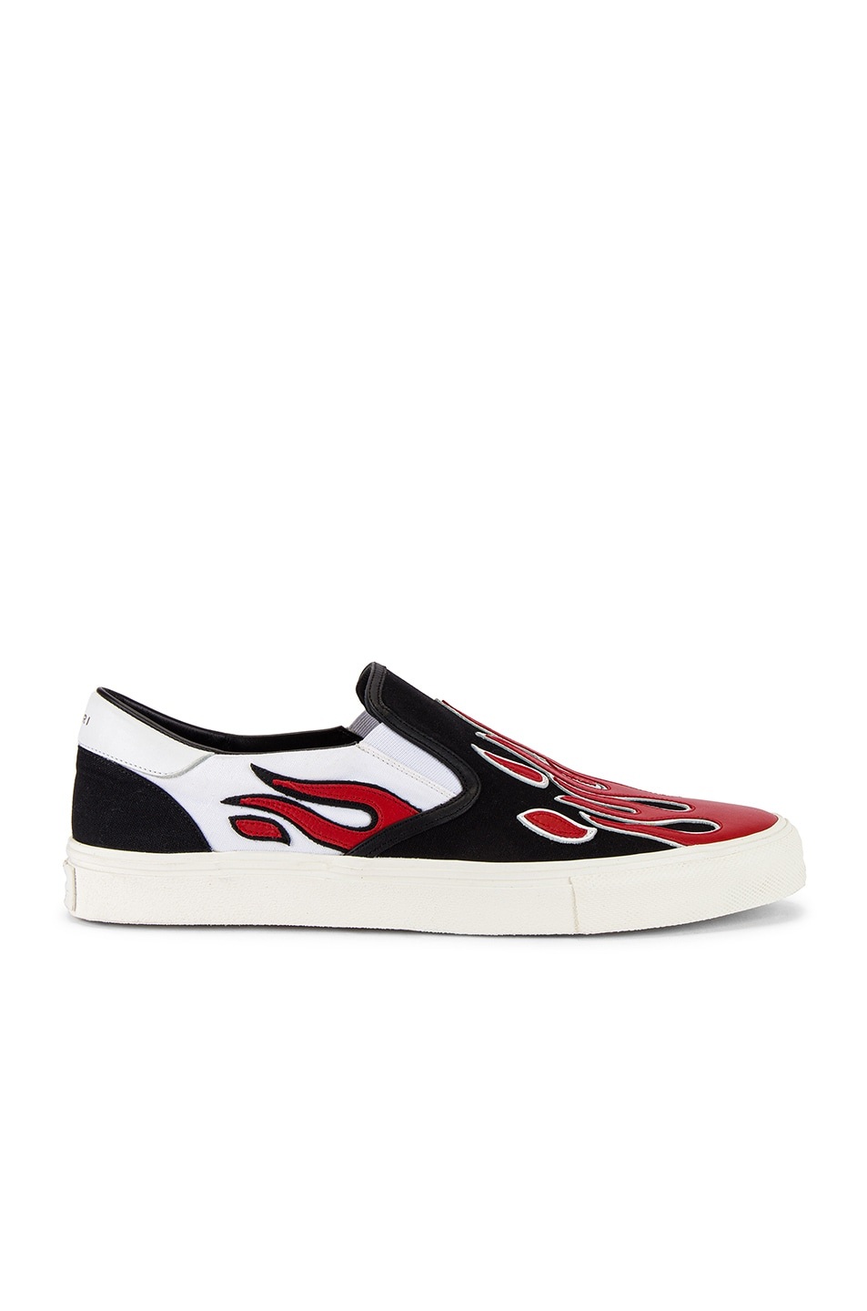 Image 2 of Amiri Flame Slip On in Black & White & Red