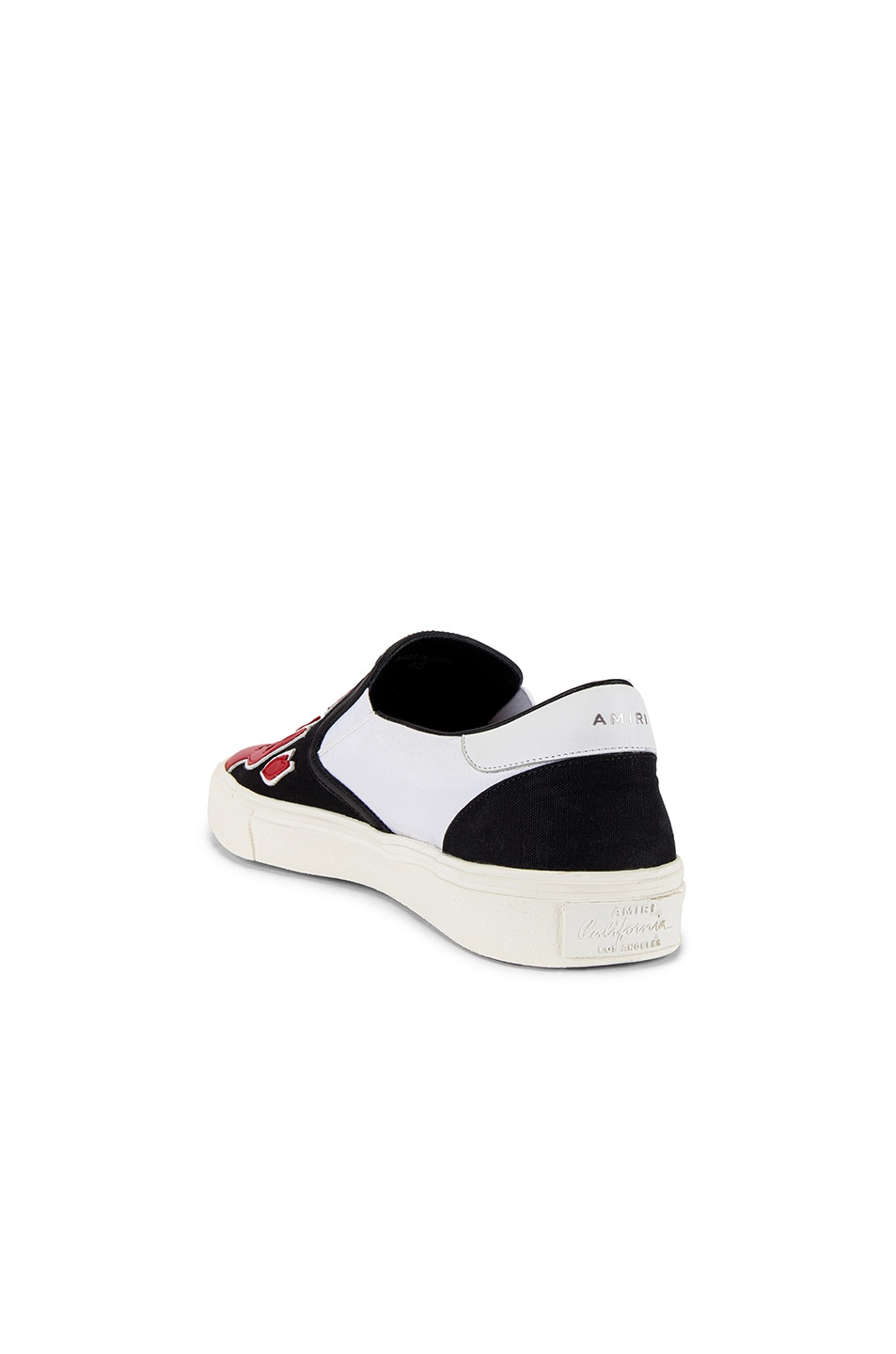 Image 3 of Amiri Flame Slip On in Black & White & Red