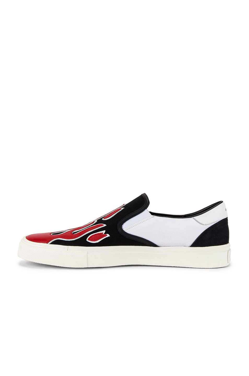 Image 5 of Amiri Flame Slip On in Black & White & Red