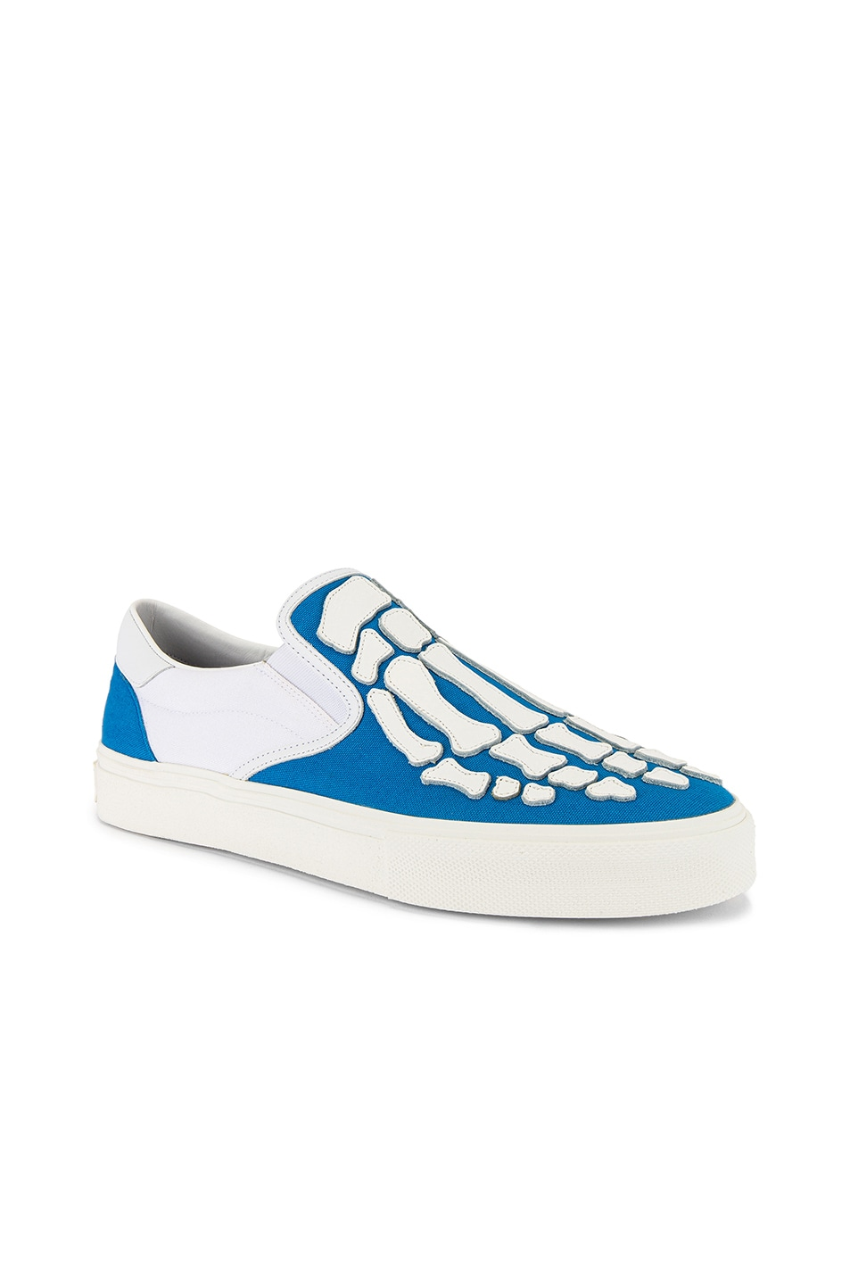 Image 1 of Amiri Skel Toe Slip On in Blue & White & White