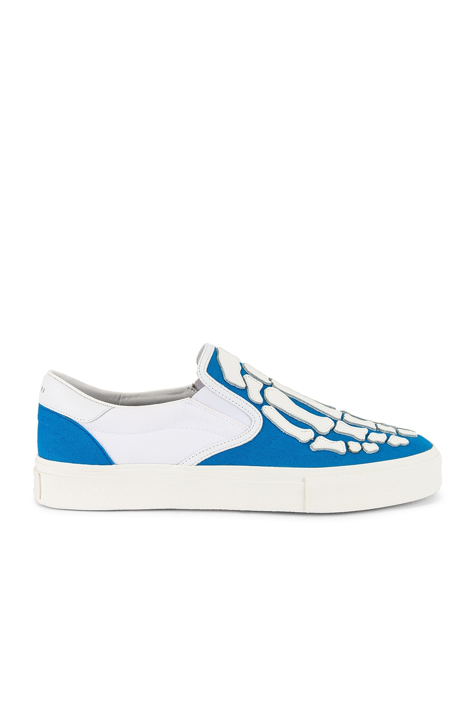 Image 2 of Amiri Skel Toe Slip On in Blue & White & White