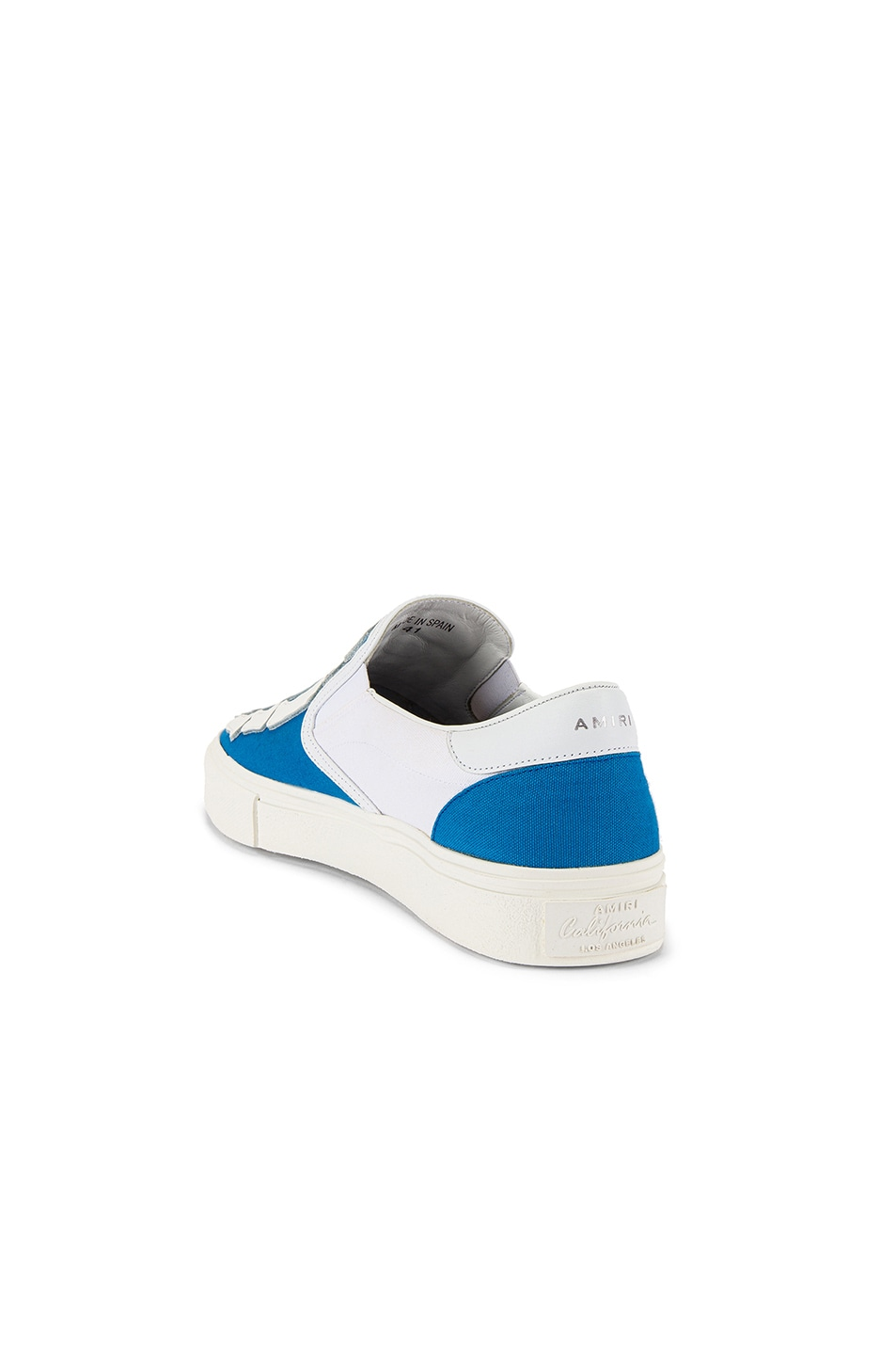 Image 3 of Amiri Skel Toe Slip On in Blue & White & White