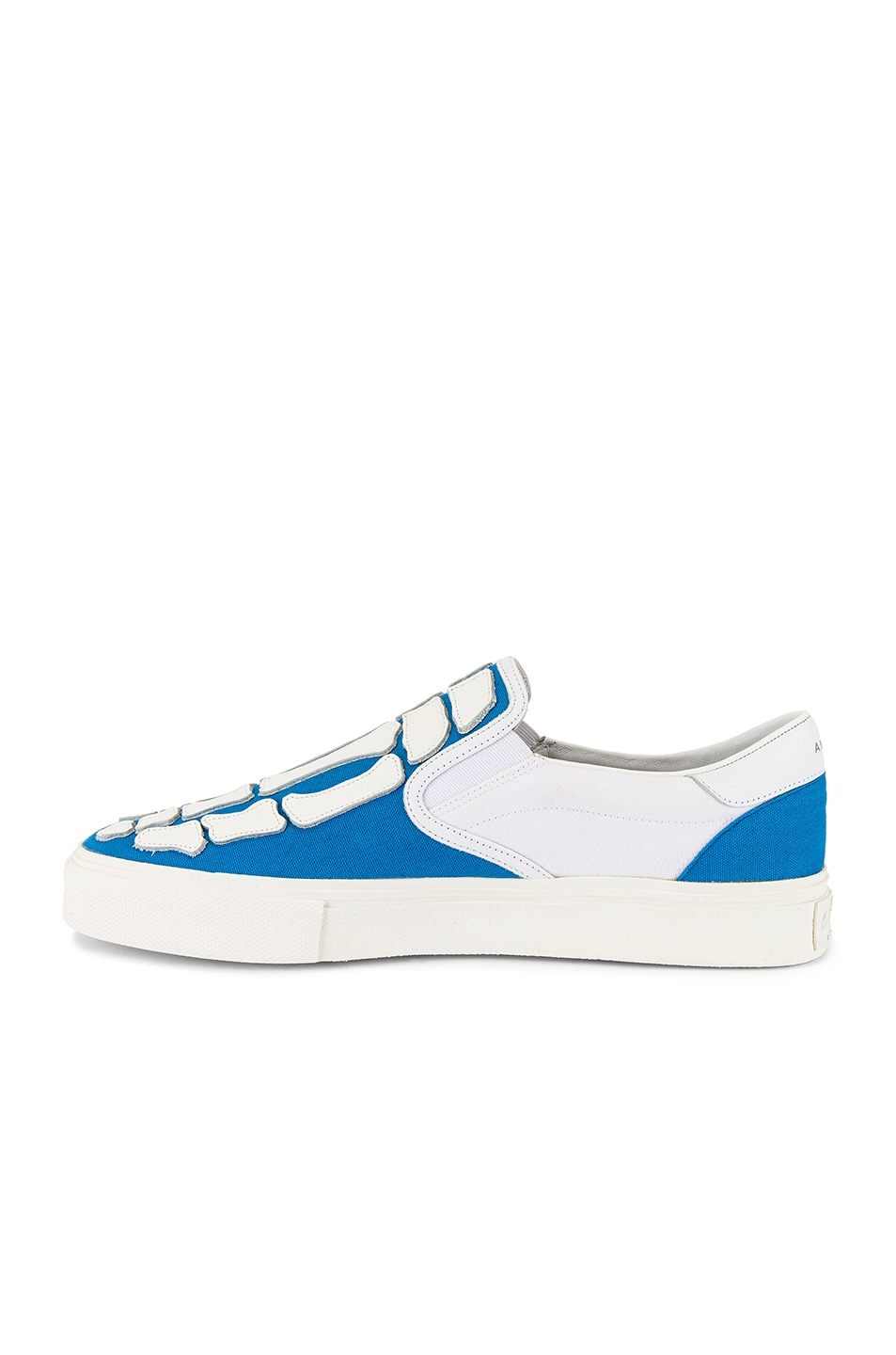 Image 5 of Amiri Skel Toe Slip On in Blue & White & White