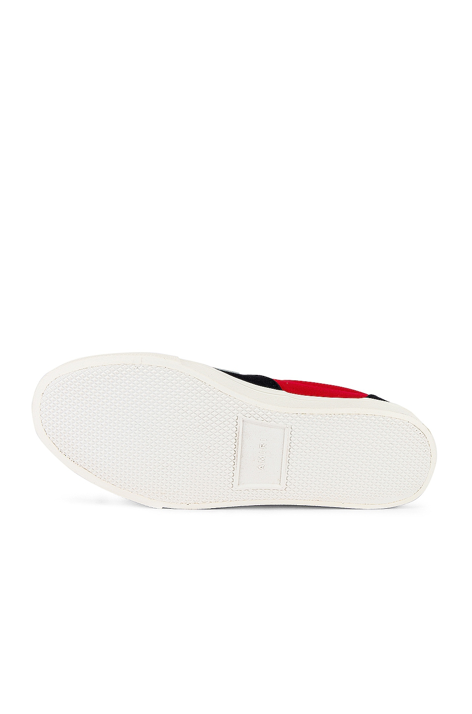 Image 6 of Amiri Skel Toe Lace Up Sneaker in Black & Red & White
