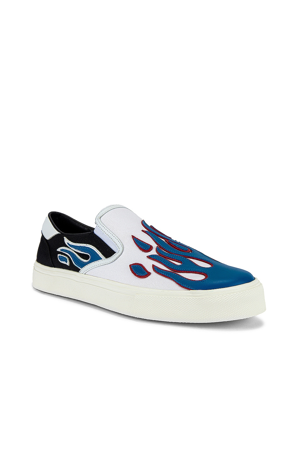 Image 1 of Amiri Flame Slip On in Black & White & Blue
