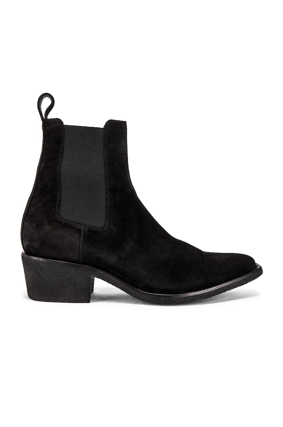 Image 2 of Amiri Crepe Pointy Toe Chelsea Boot in Black
