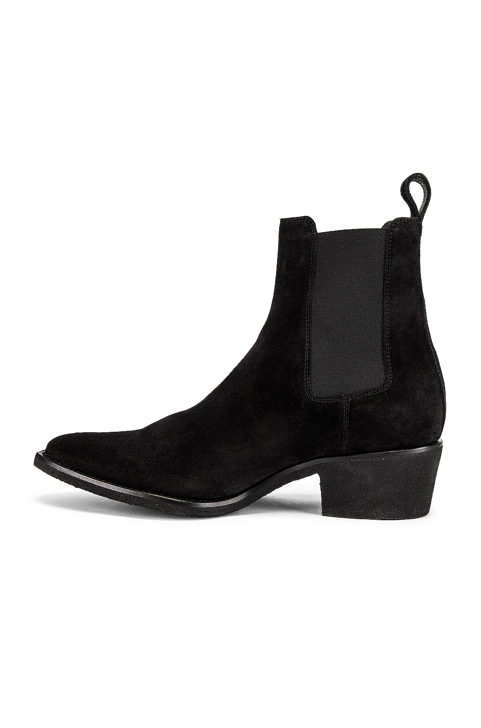 Image 5 of Amiri Crepe Pointy Toe Chelsea Boot in Black