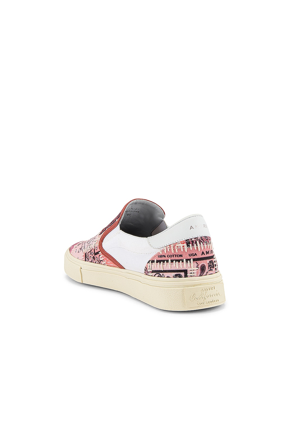 Image 3 of Amiri Bandana Reconstructed Slip On in Coral