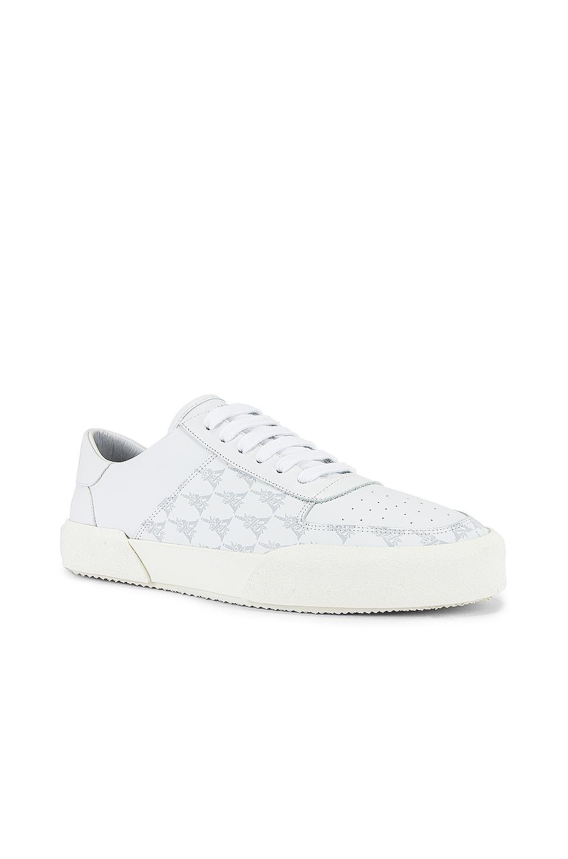 Image 1 of Amiri Dagger Monogram Low Top Sneaker in White