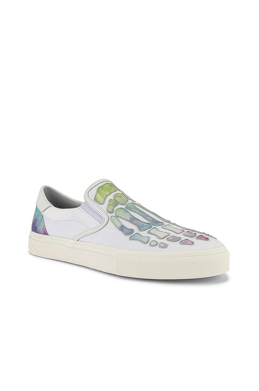 Image 1 of Amiri Watercolor Skel Toe Slip On in White / Multi-Color
