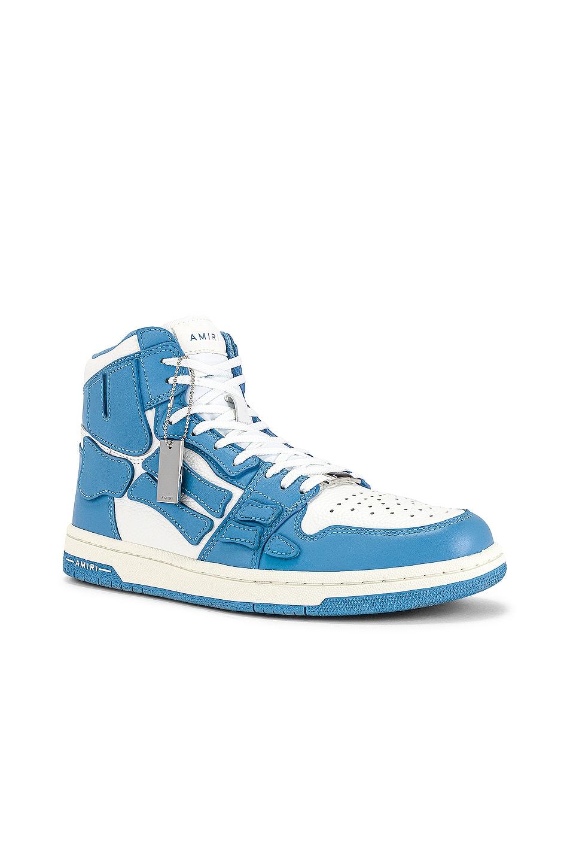 Image 1 of Amiri Skel Top Hi in Powder Blue & White