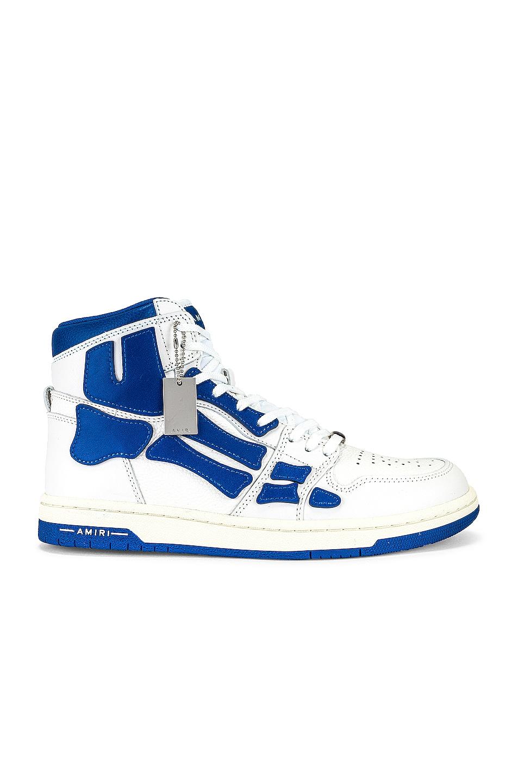 Image 1 of Amiri Skel Top Hi in White & Blue