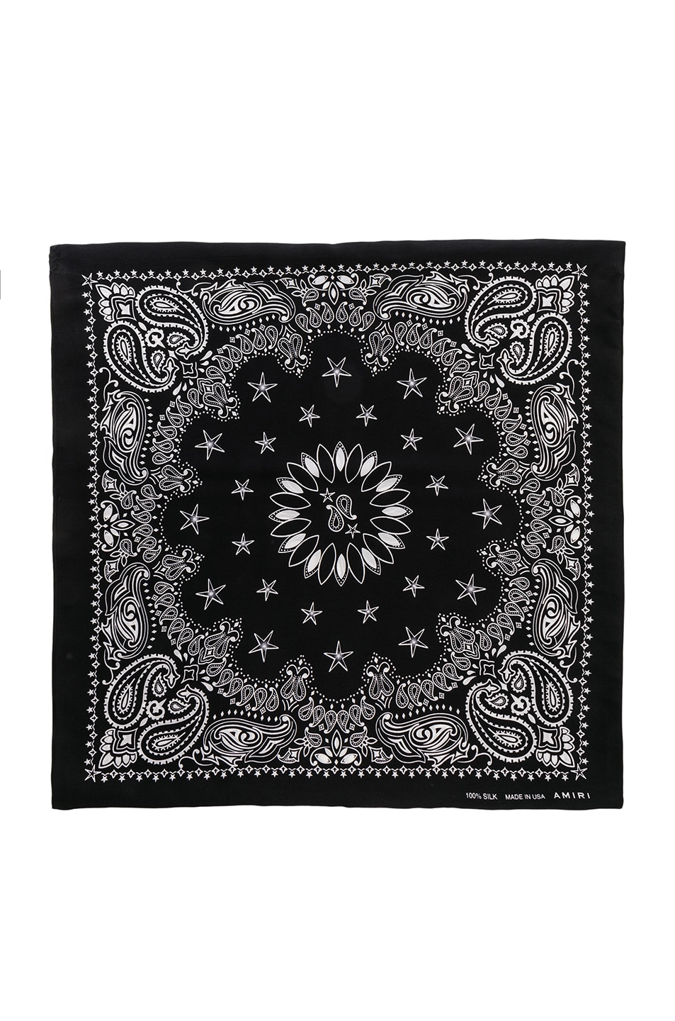 Image 2 of Amiri Silk Bandana in Black