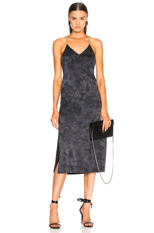Amiri T Back V Calf Dress in Black,Gray,Ombre & Tie Dye