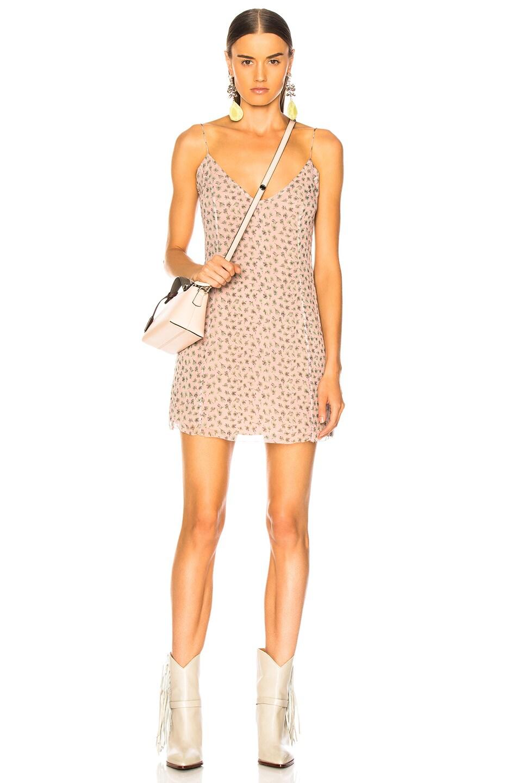 Image 1 of Amiri Floral Print Slip Dress in Pink
