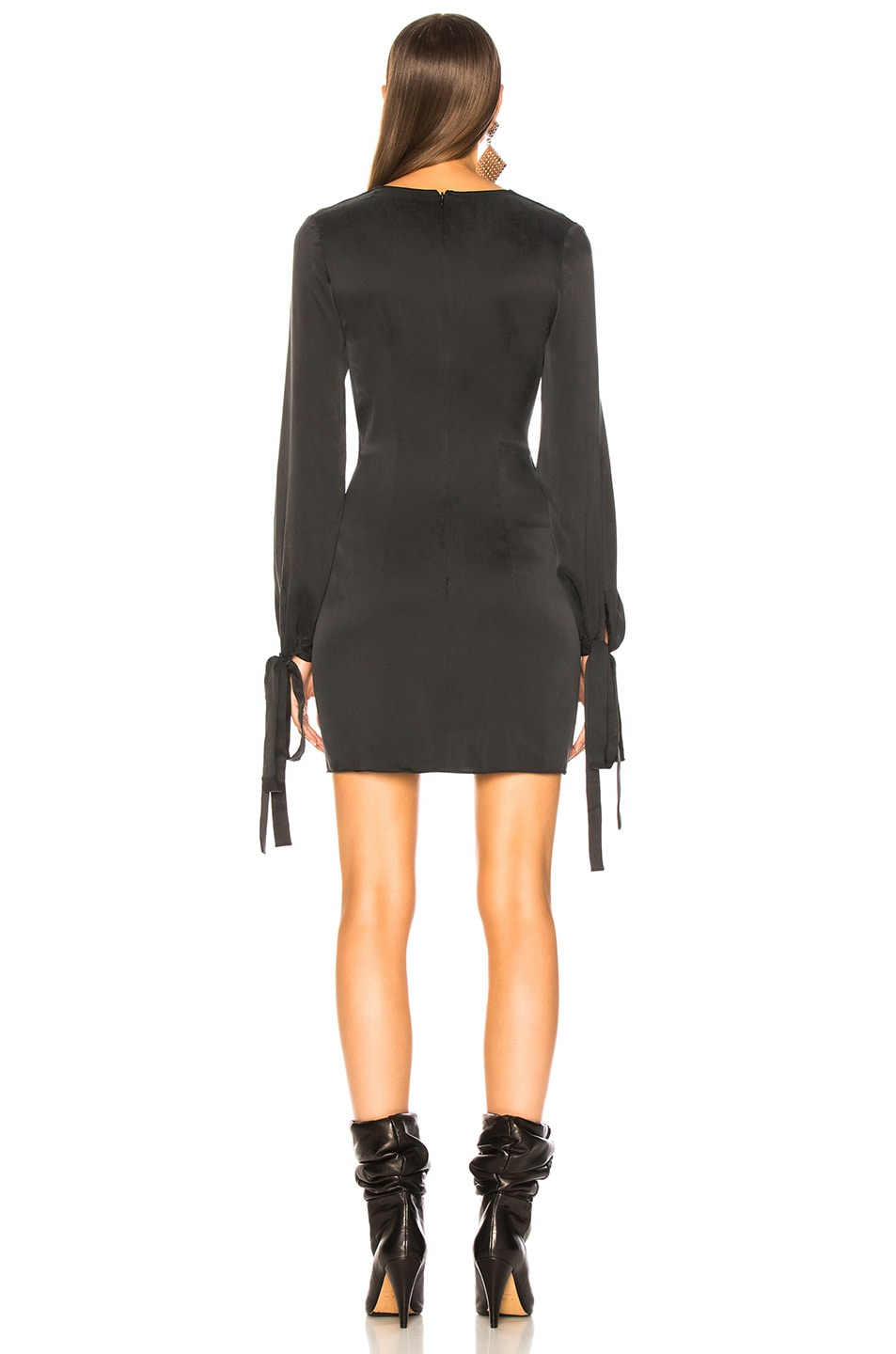 Image 4 of Amiri V Neck Short Dress in Black