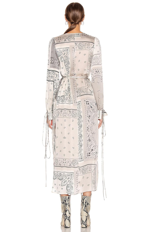 Image 3 of Amiri Bandana Reconstructed Kimono Dress in Ivory