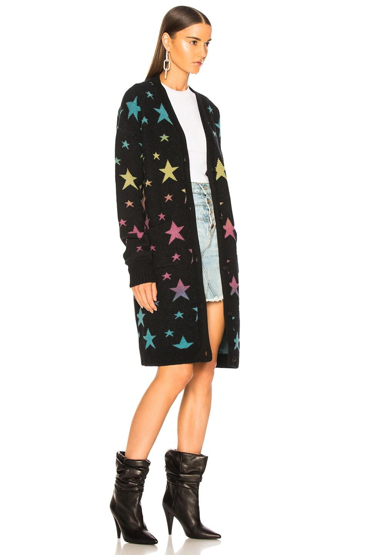 Image 3 of Amiri Star Long Cardigan in Black & Rainbow