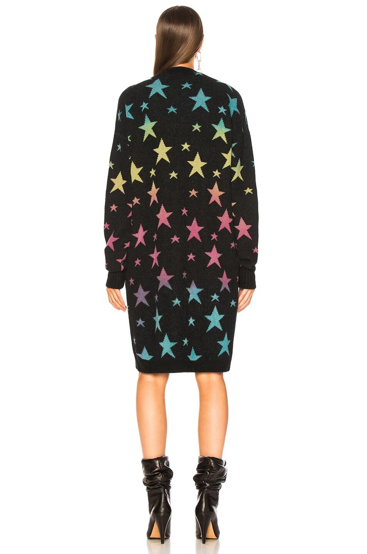 Image 4 of Amiri Star Long Cardigan in Black & Rainbow