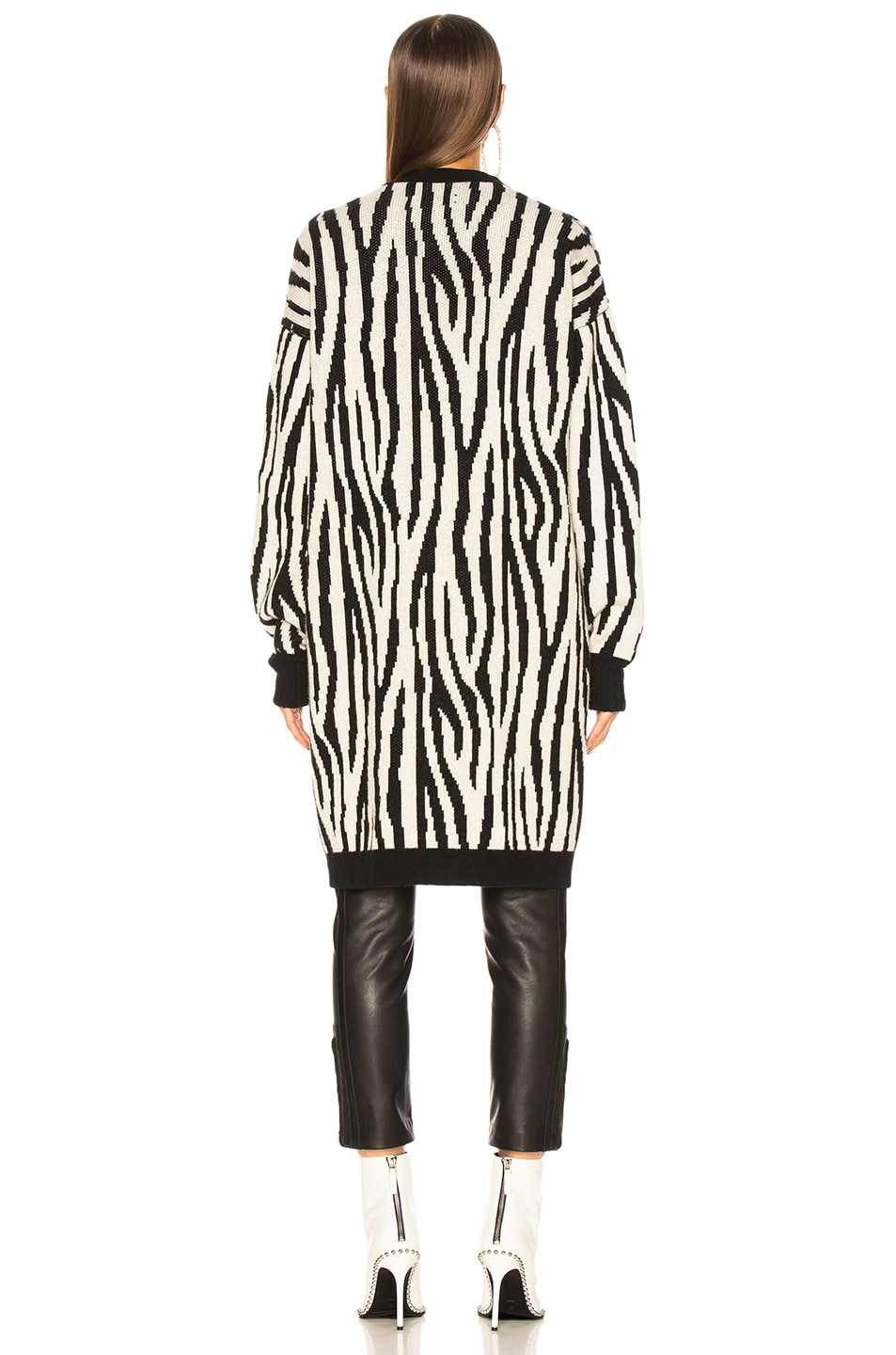 Image 4 of Amiri Zebra Long Cardigan in Black & White