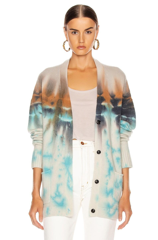 Image 1 of Amiri Tie Dye Cardigan in Blue & Orange