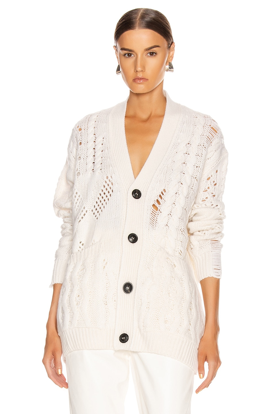 Image 1 of Amiri Multipoint Short Cardigan in Cream