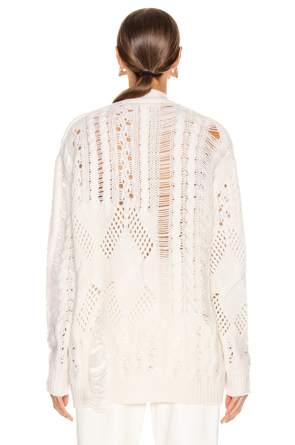 Image 3 of Amiri Multipoint Short Cardigan in Cream