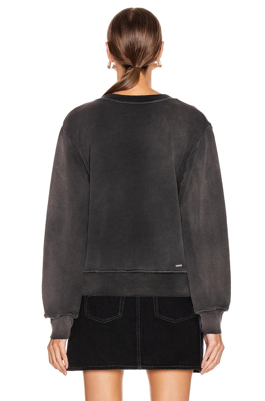 Image 3 of Amiri College Tonal Crewneck Sweatshirt in Washed Black