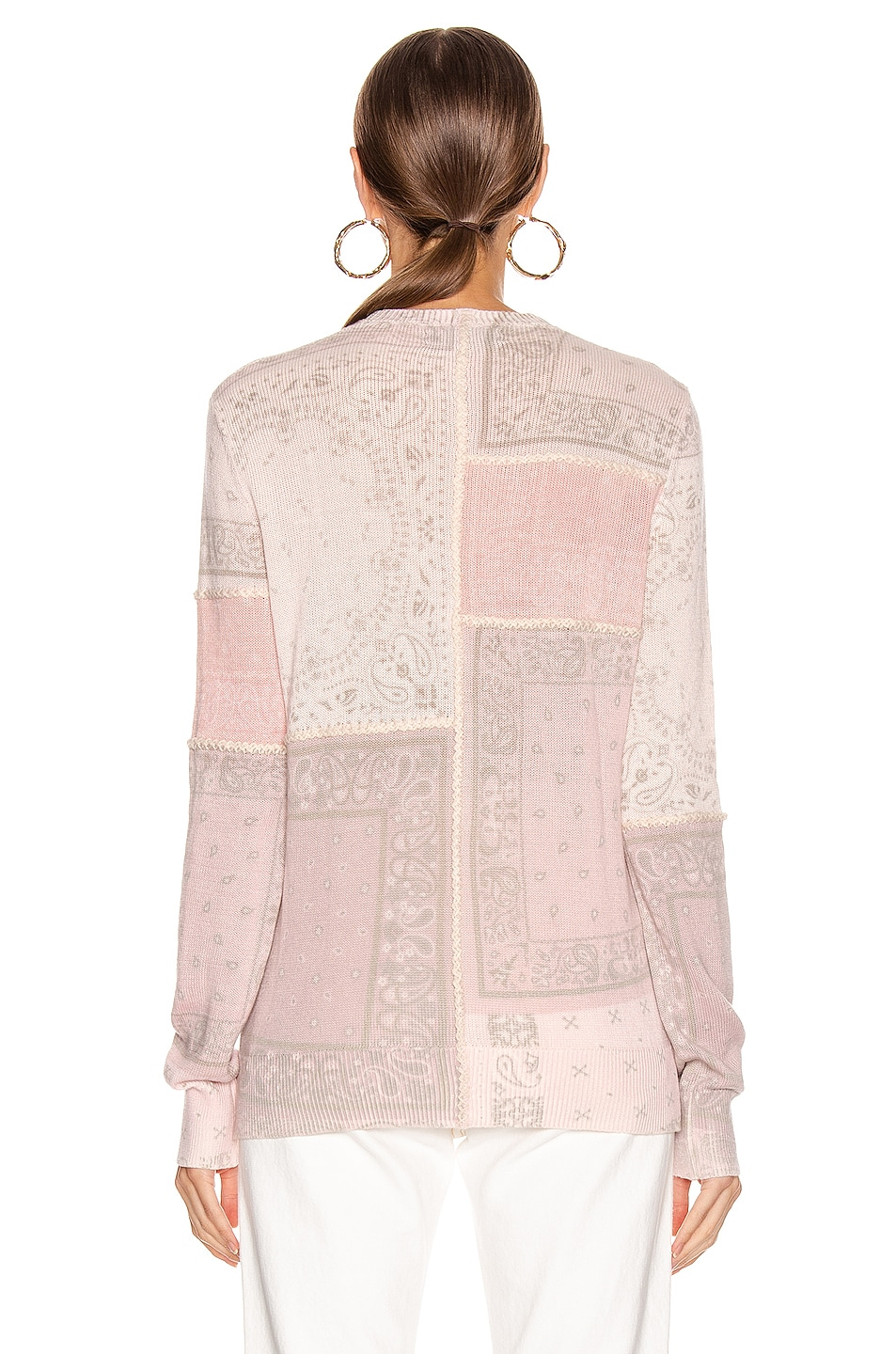 Image 3 of Amiri Bandana Reconstructed Sweater in Coral