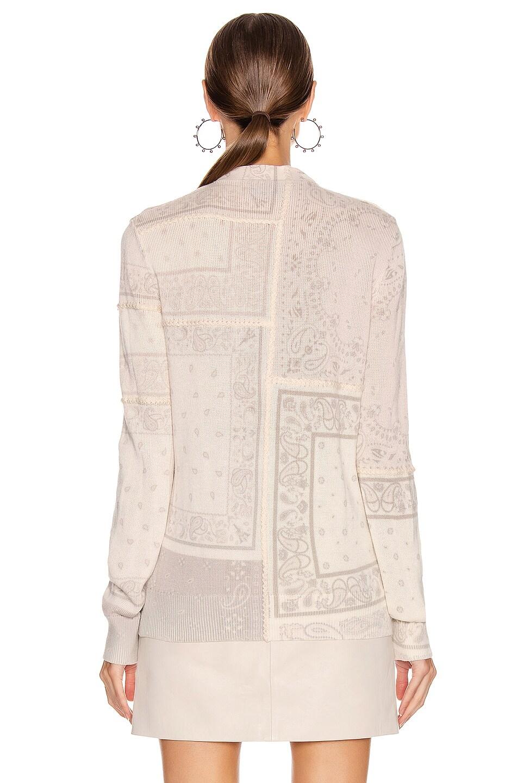 Image 4 of Amiri Bandana Reconstructed Cardigan in Ivory